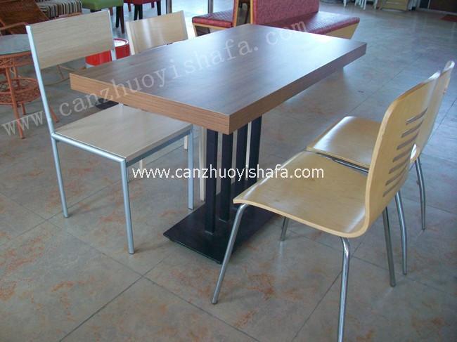 分体快餐桌椅-T02113