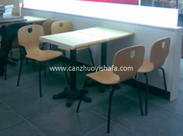 北京快餐桌椅-T02135