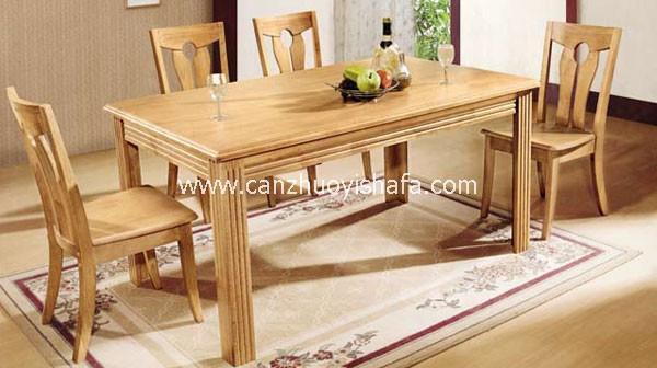 实木餐桌椅-T0612