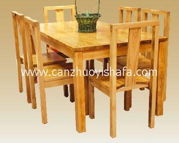实木餐桌椅-T0614