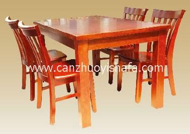 实木餐桌椅-T0616