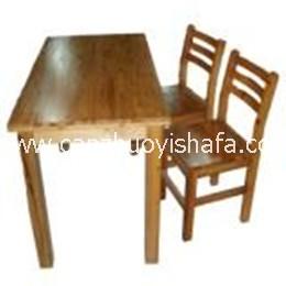 实木餐桌椅-T0622