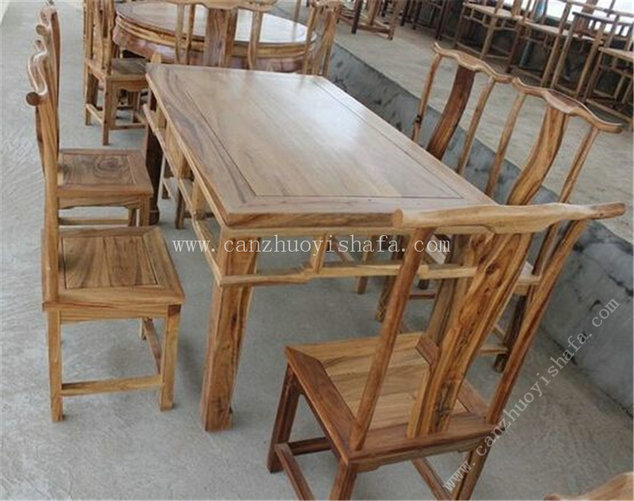 实木餐桌椅-T0623