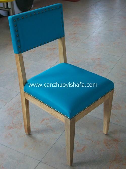 实木软包餐椅-Y1113