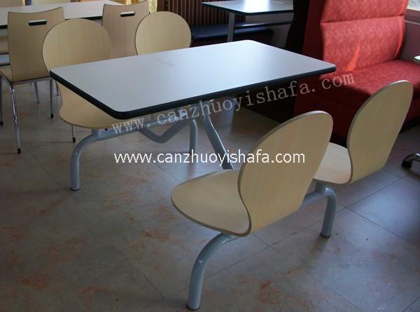 连体快餐桌椅-T0307