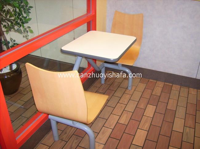 快餐桌椅-T0317