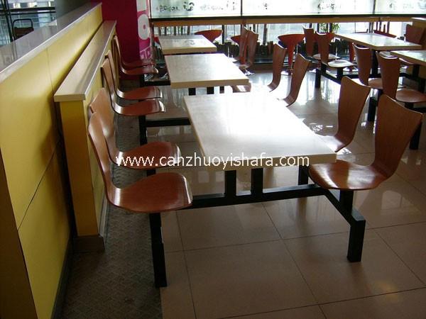 连体快餐桌椅-T0321
