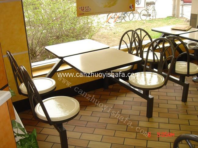 快餐桌椅-T0325