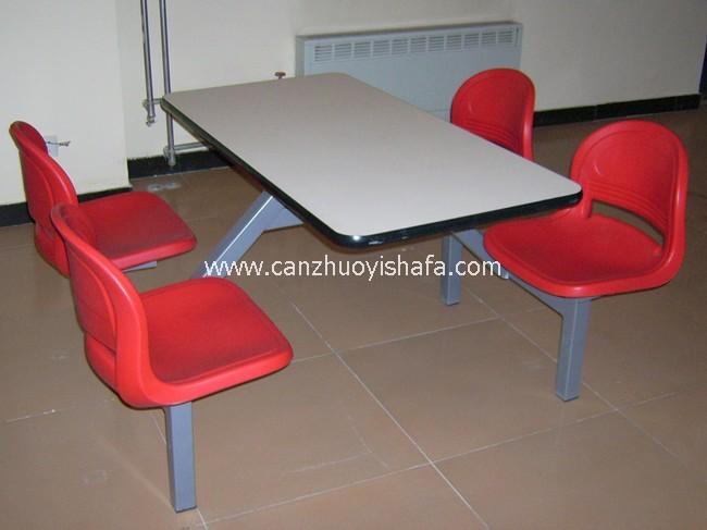 连体快餐桌椅-T0327