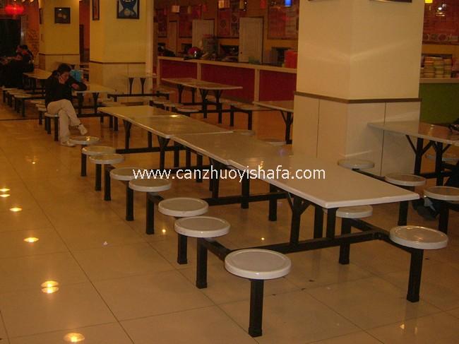 连体快餐桌椅-T0328