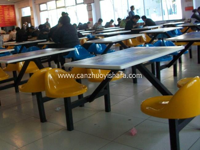 玻璃钢食堂餐桌椅-T0511