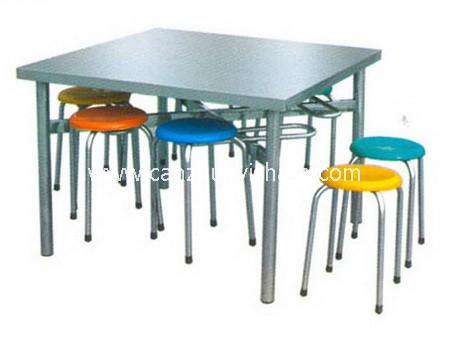 食堂餐桌椅-T0539