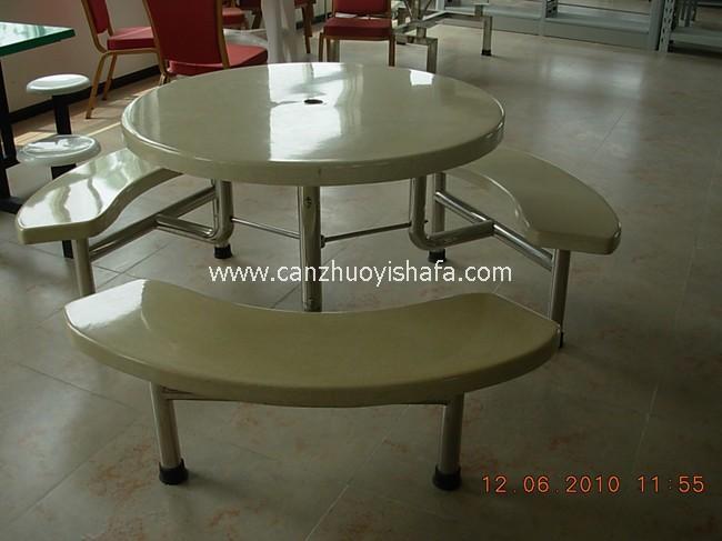玻璃钢食堂餐桌椅-T0547