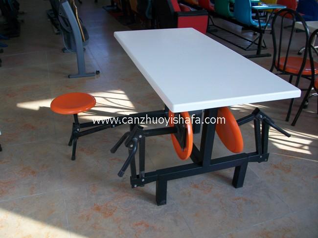 玻璃钢食堂餐桌椅-T0549
