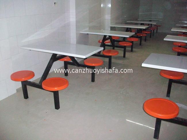 玻璃钢食堂餐桌椅-T0550