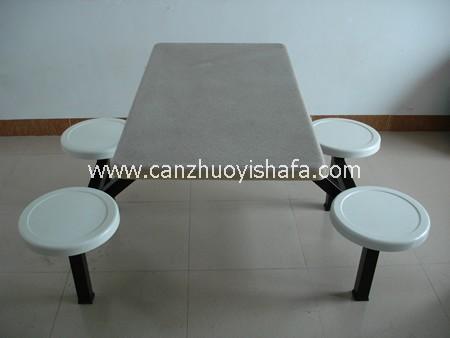 玻璃钢食堂餐桌椅-T0551