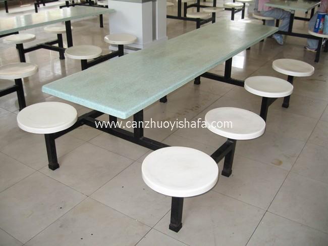 玻璃钢食堂餐桌椅-T0552