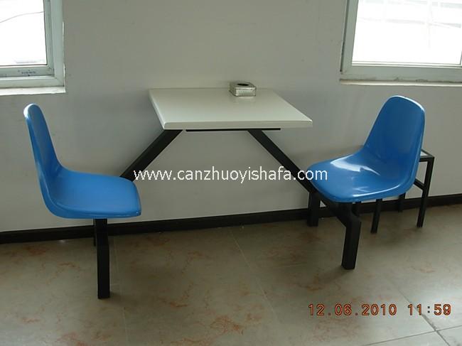 玻璃钢食堂餐桌椅-T0554