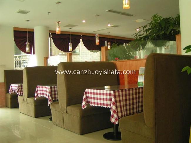 餐厅卡座沙发-K09002