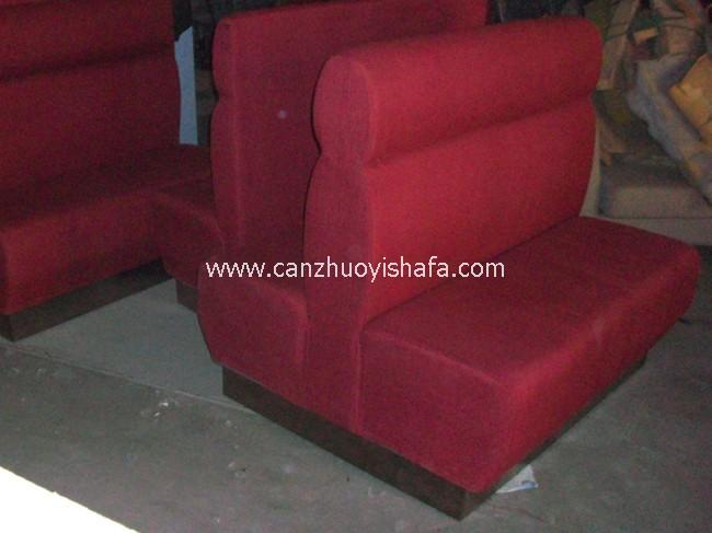 茶餐厅卡座沙发-K09012