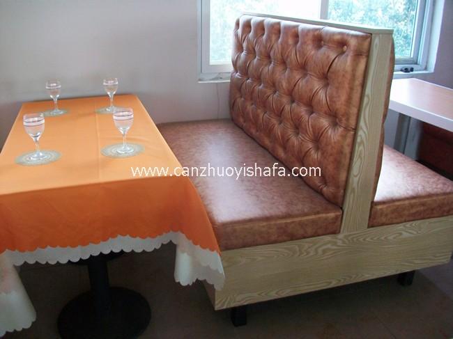 餐厅卡座沙发-K09018