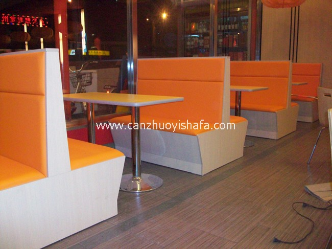 茶餐厅卡座沙发-K09023