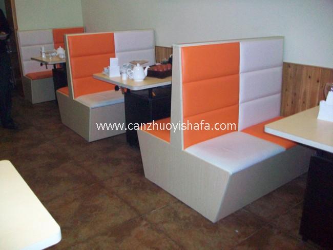 茶餐厅卡座沙发-K09024
