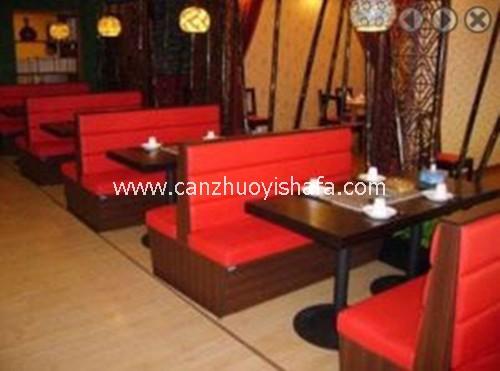 茶餐厅卡座沙发-K09027