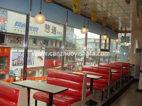餐厅卡座沙发-K09037