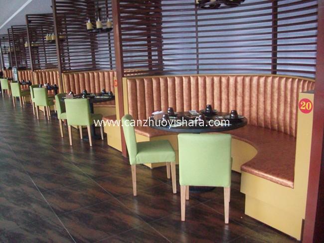 餐厅卡座沙发-K09105