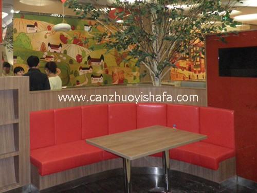 茶餐厅卡座沙发-K09111