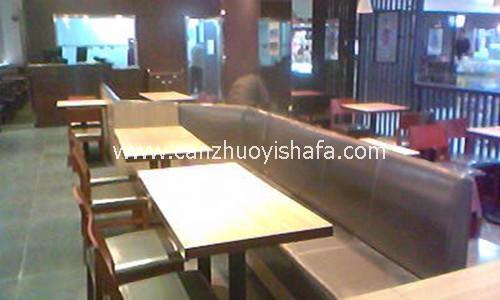 茶餐厅卡座沙发-K09115