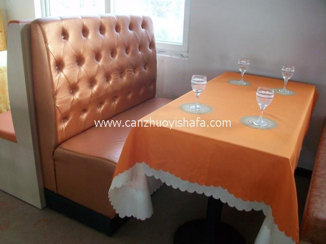 餐厅卡座沙发-K09116