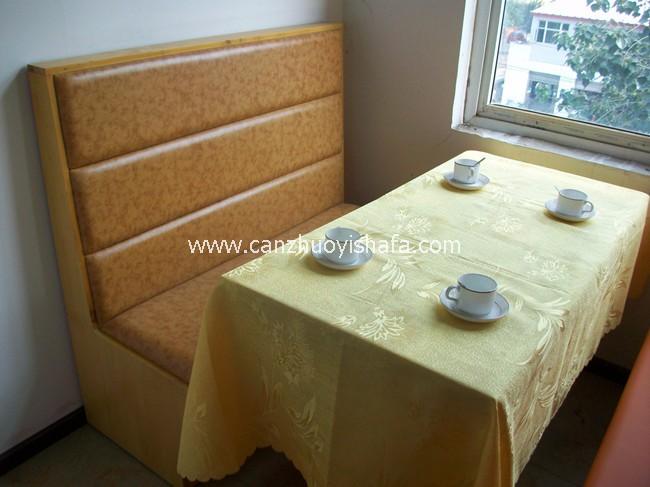 茶餐厅卡座沙发-K09128