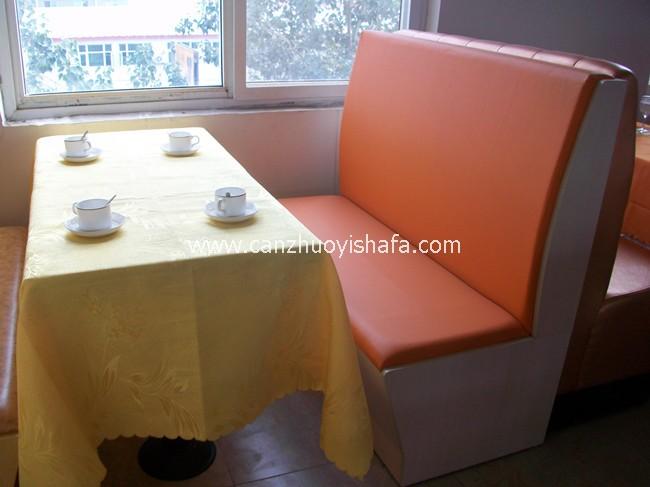 茶餐厅卡座沙发-K09129