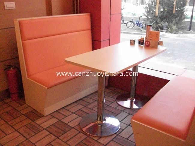 茶餐厅卡座沙发-K09132