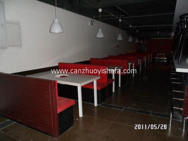 茶餐厅卡座沙发-K09135