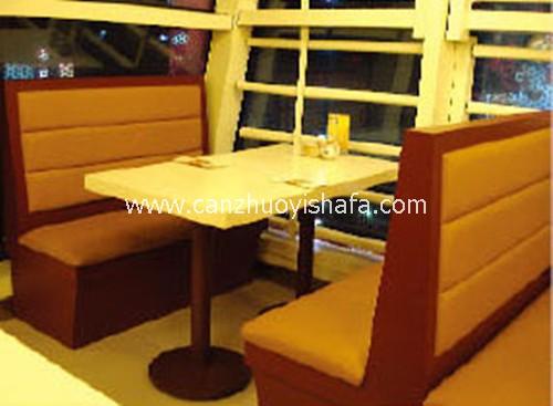 茶餐厅卡座沙发-K09136