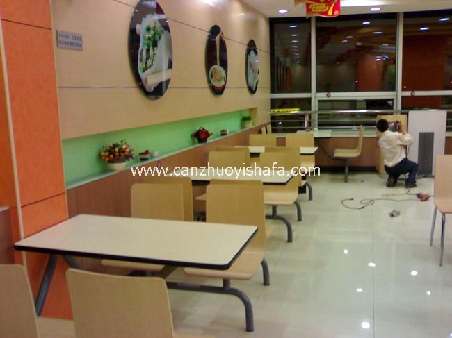 麦当劳餐厅桌椅-T1515