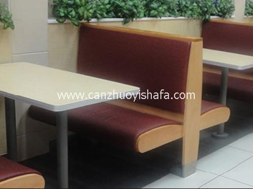 麦当劳餐厅卡座沙发-T1520