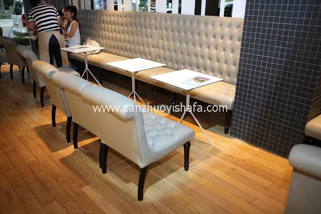 麦当劳餐厅卡座沙发-T1523