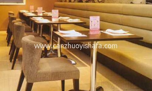 麦当劳餐厅卡座沙发-T1524