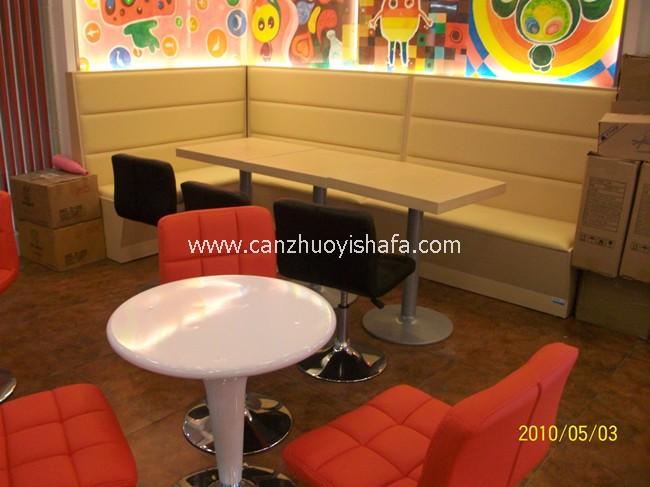 麦当劳餐厅卡座沙发-T1527