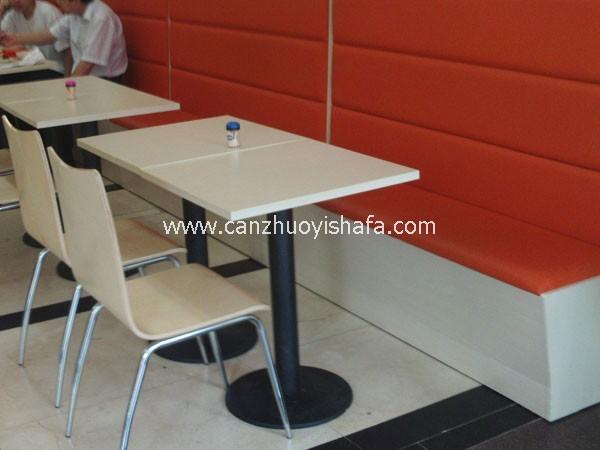 肯德基餐厅卡座沙发-T1528