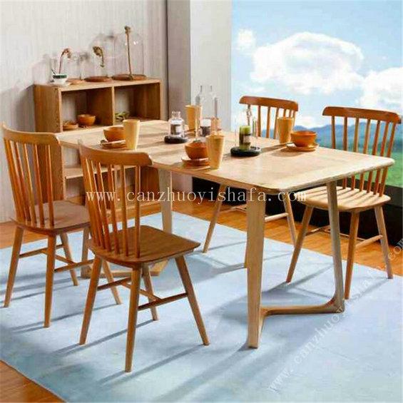 实木餐桌椅-T0628