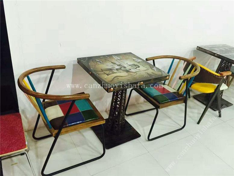 主题餐厅桌椅-T09238