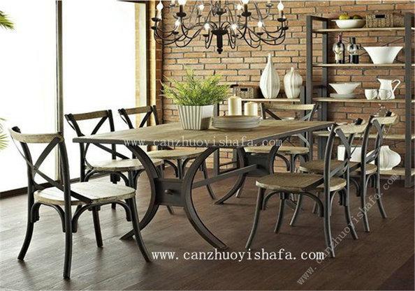主题餐厅桌椅-T09246