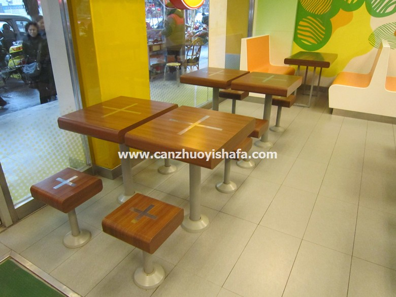 分体快餐桌椅-T02137