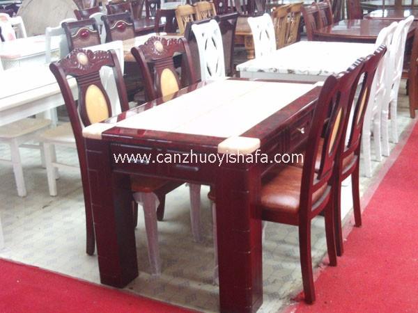 实木餐桌椅-T0608