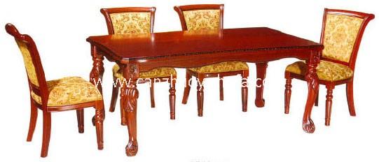 实木餐桌椅-T0610